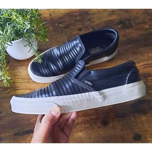 Vans Classic Slip-On Moto Leather Shoes